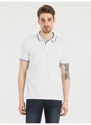 Loft Polo Yaka Tişört Beyaz